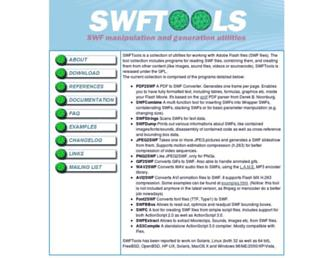 swftools.org screenshot
