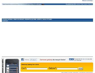 Main page screenshot of wspb.pl
