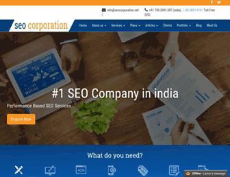 Main page screenshot of seocorporation.net