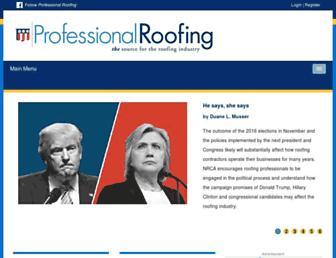 professionalroofing.net screenshot