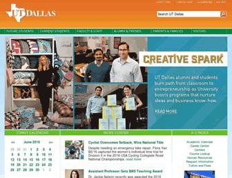 Main page screenshot of utdallas.edu