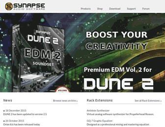 synapse-audio.com screenshot