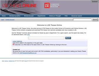 etheses.lse.ac.uk screenshot