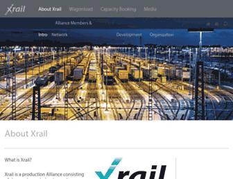 Main page screenshot of xrail.eu