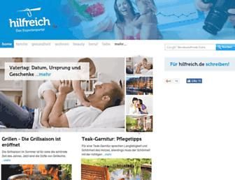 Main page screenshot of hilfreich.de