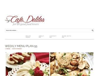 cafedelites.com screenshot
