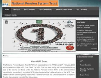 npstrust.org.in screenshot