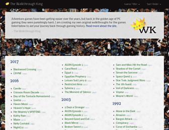 walkthroughking.com screenshot