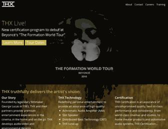 thx.com screenshot