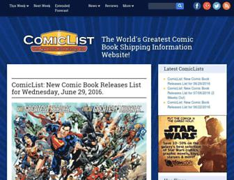 Thumbshot of Comiclist.com