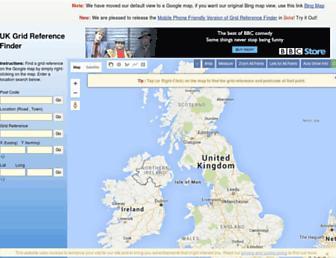 gridreferencefinder.com screenshot