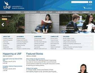 unf.edu screenshot