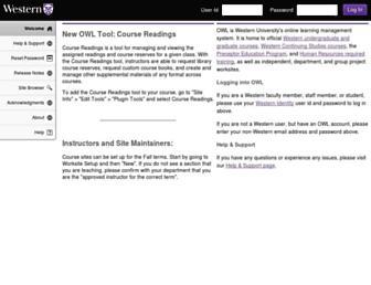 Main page screenshot of owl.uwo.ca