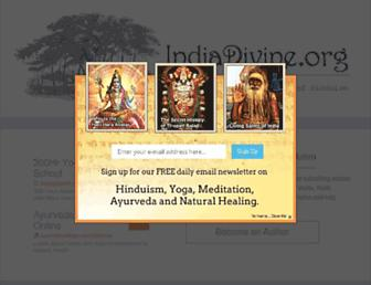 Main page screenshot of indiadivine.org