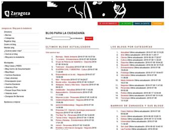 Main page screenshot of zaragozaciudad.net