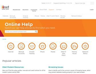 iihelp.iinet.net.au screenshot
