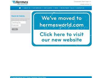 Main page screenshot of hermes-europe.co.uk