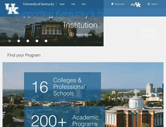 Main page screenshot of uky.edu