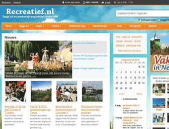 Main page screenshot of recreatief.nl