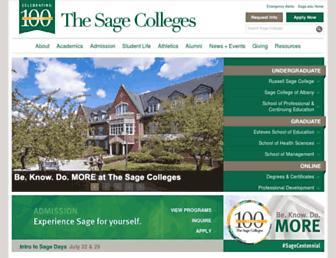 sage.edu screenshot