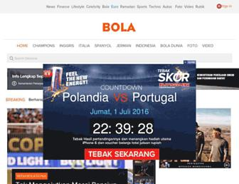 bola.okezone.com screenshot