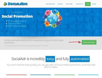 Thumbshot of Socialadr.com