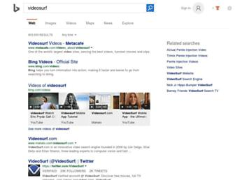 videosurf.com screenshot