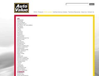 locations.autovalue.com screenshot