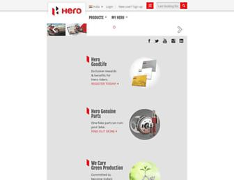 heromotocorp.com screenshot