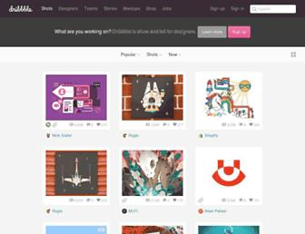 Screenshot for dribbble.com