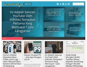 Main page screenshot of amanz.my