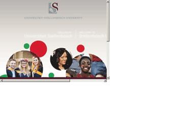 Main page screenshot of sun.ac.za