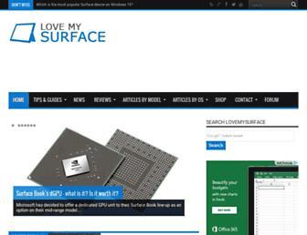 lovemysurface.net screenshot