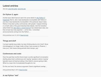 Main page screenshot of b-list.org