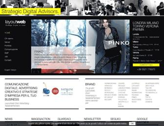 Main page screenshot of layoutweb.it