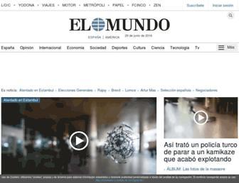 Main page screenshot of elmundo.es