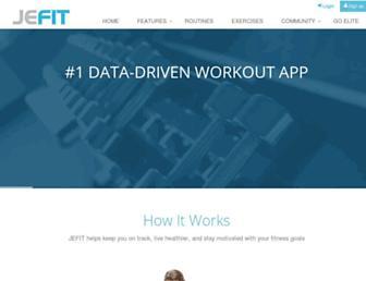 jefit.com screenshot