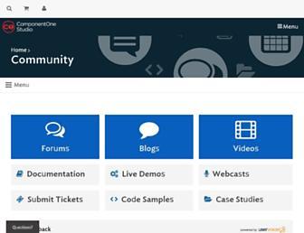 our.componentone.com screenshot