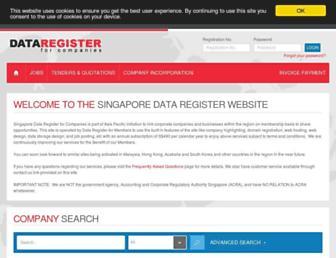 companyregister.sg screenshot