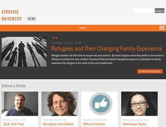 news.syr.edu screenshot