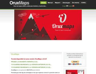 oruxmaps.com screenshot