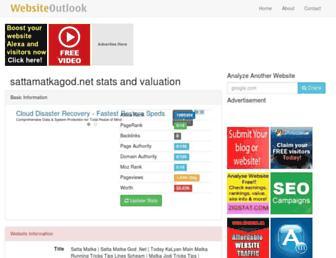 sattamatkagod.net.websiteoutlook.com screenshot