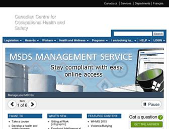 ccohs.ca screenshot