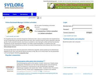 Main page screenshot of svi2.org