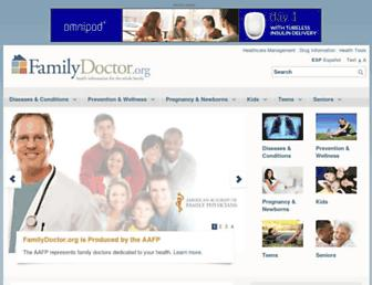Main page screenshot of familydoctor.org