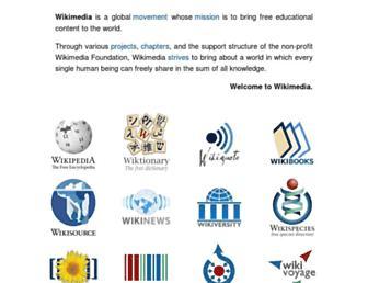 Main page screenshot of wikimedia.org