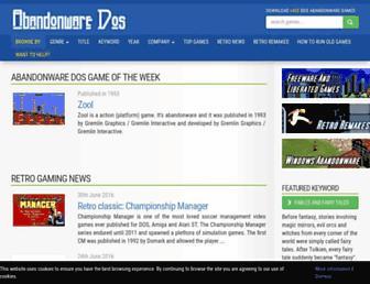 abandonwaredos.com screenshot