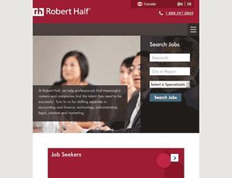 roberthalf.ca screenshot