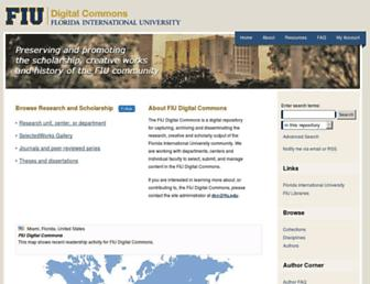 digitalcommons.fiu.edu screenshot