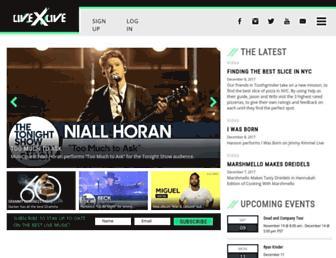 livexlive.com screenshot